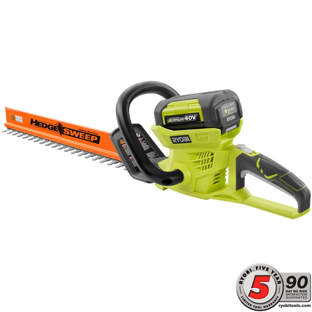 24 in. 40-Volt Lithium-Ion Cordless Hedge Trimmer - 2.6 Ah Battery