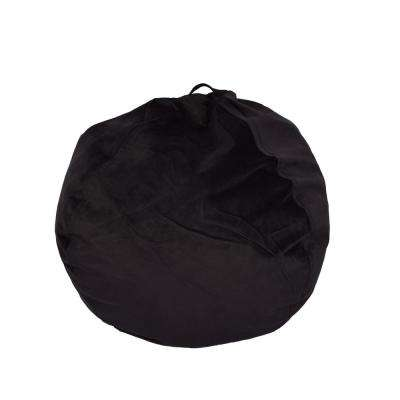 Ebony Velvet Bean Bag