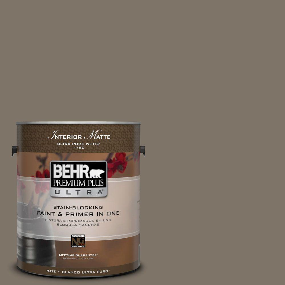 BEHR Premium Plus Ultra Home Decorators Collection 1 gal. #HDC-NT-05 Aged Olive Flat/Matte Interior Paint