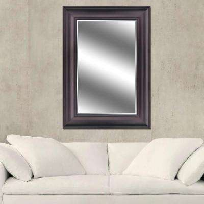 Reflections 31 in. x 43 in. Bevel Style Framed Mirror in Oil Rubbed Bronze Finish