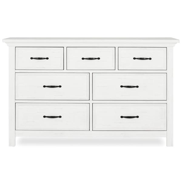 Evolur Belmar 7-Drawer Weathered White Dresser 885-WW