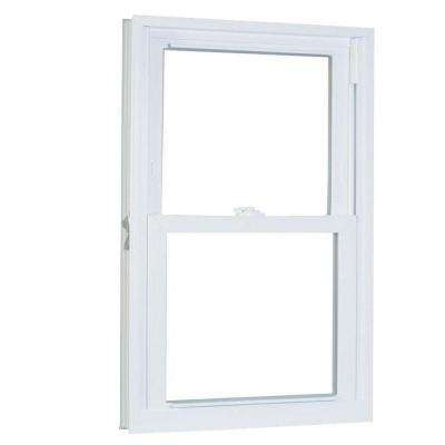 31.75 in. x 45.25 in. 70 Series Pro Double Hung White Vinyl Window with Buck Frame