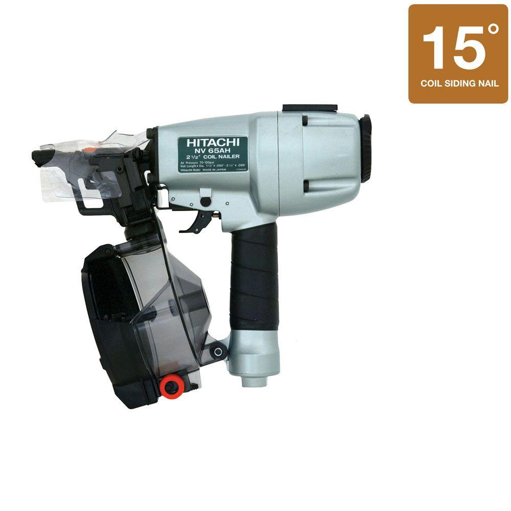 Hitachi 2-1/2 in. Siding Coil Nailer with Safety Glasses and 3-Hex Bar Wrenches