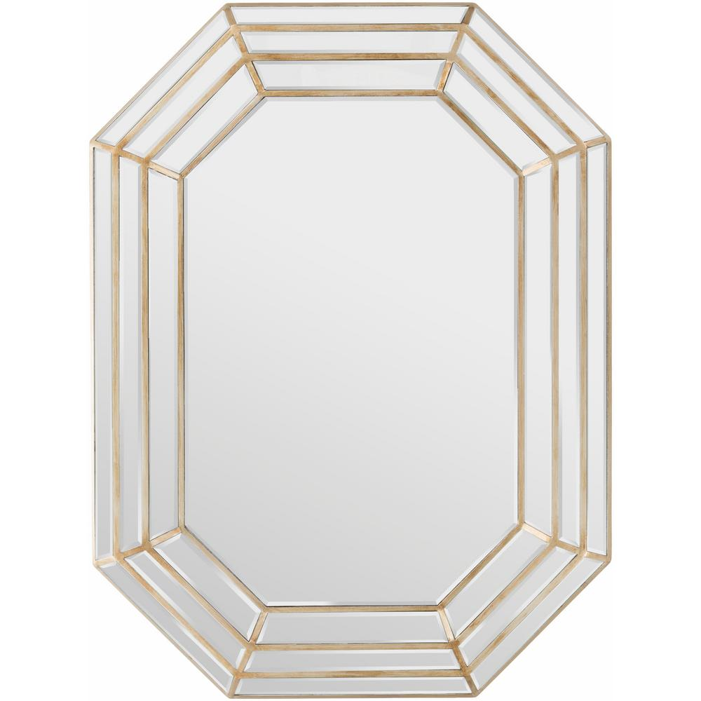 Caley 40 in. x 30 in. Contemporary Framed Mirror