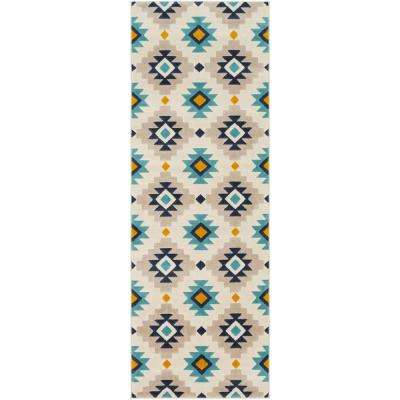 Astvin Mustard 2 ft. 7 in. x 7 ft. 3 in. Mexican Area Rug