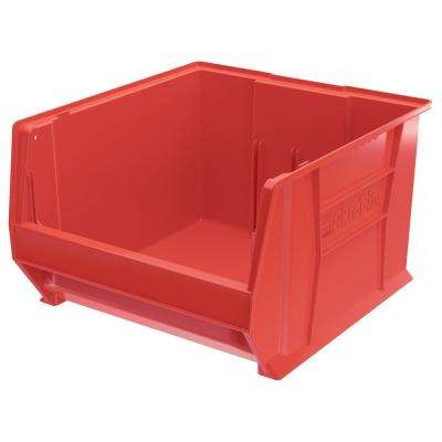Super-Size AkroBin 18.3 in. 300 lbs. Storage Tote Bin in Red with 14 Gal. Storage Capacity