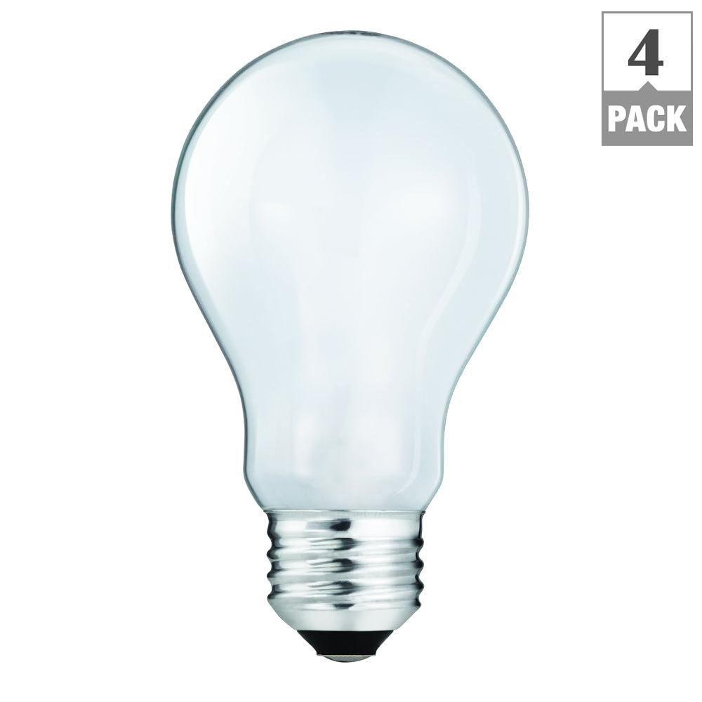 EcoSmart 100-Watt Equivalent Halogen A19 Light Bulb (4-Pack)