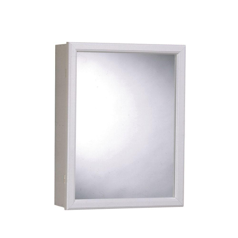 Zenna Home 16 in. x 20 in. Surface-Mount Mirrored Swing-Door ...