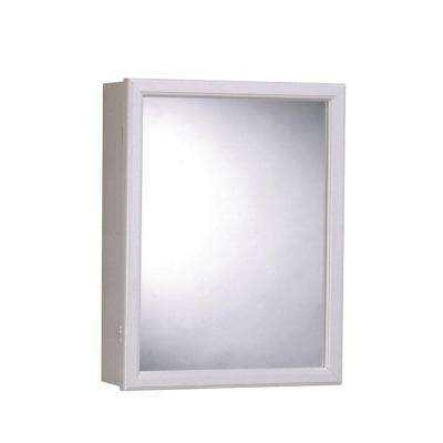 16 in. x 20 in. Surface-Mount Mirrored Swing-Door Medicine Cabinet in White