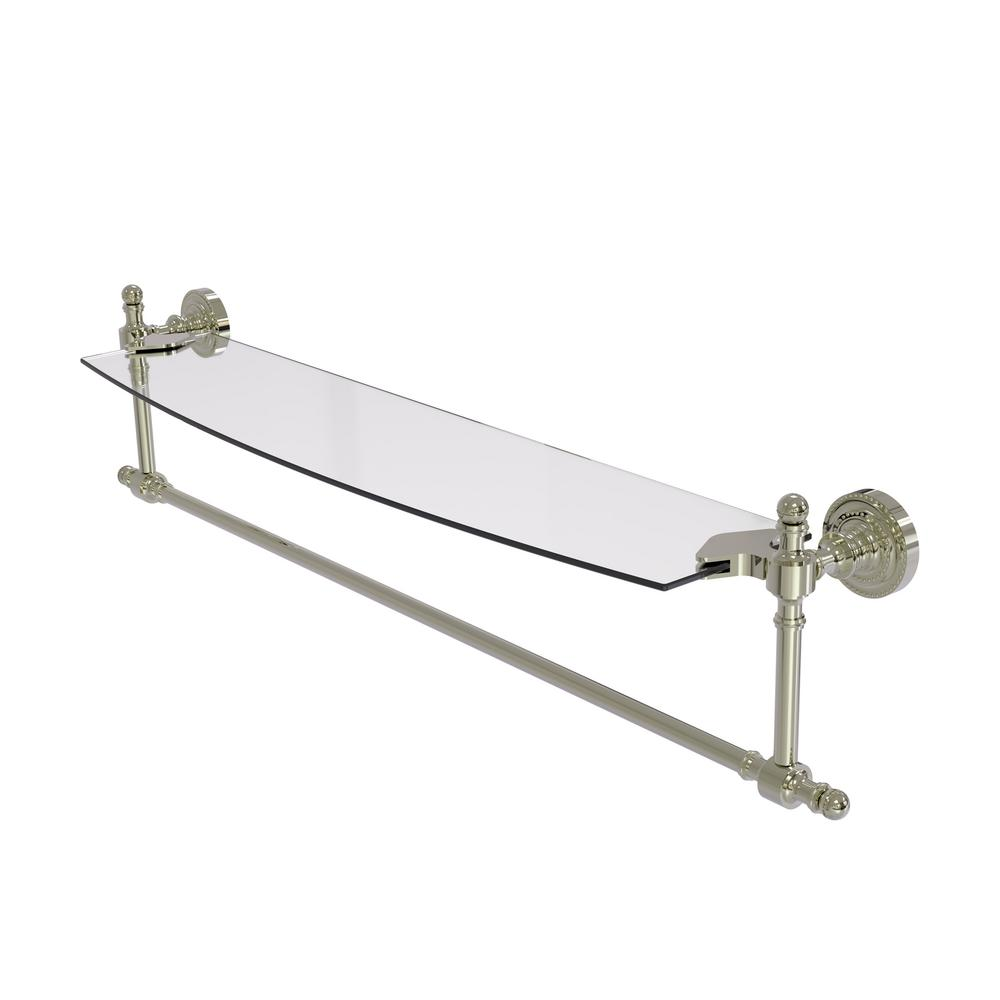 Allied Brass Retro Dot Collection 24 in. Glass Vanity Shelf with ...