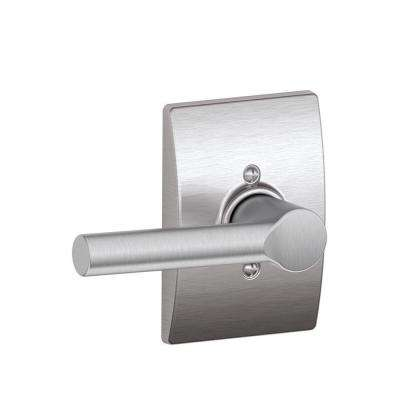 Satin Chrome Broadway Dummy Door Lever with Century Trim