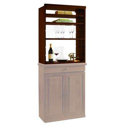 N'FINITY Wine Rack Kit Mahogany Hutch with Shelves