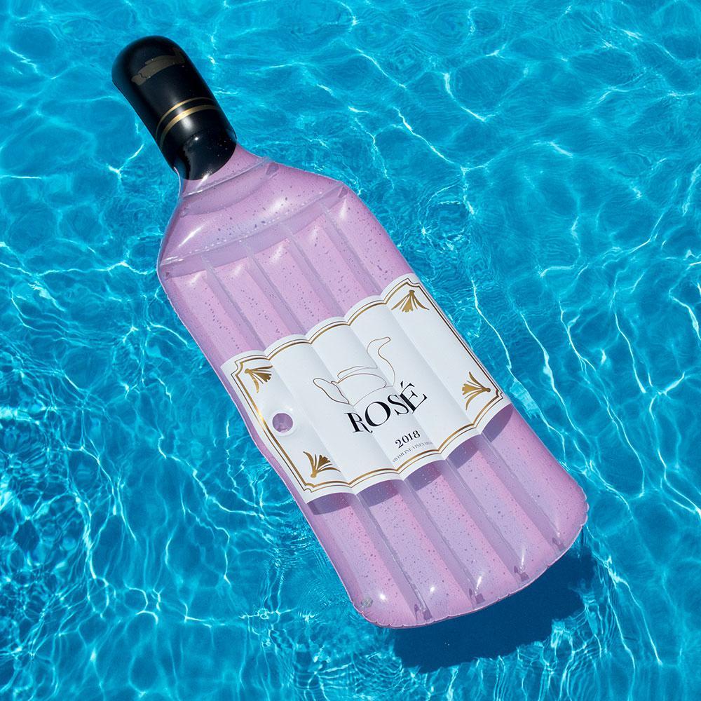 Swimline Bottle Of Rose Pool Float 90654 The Home Depot