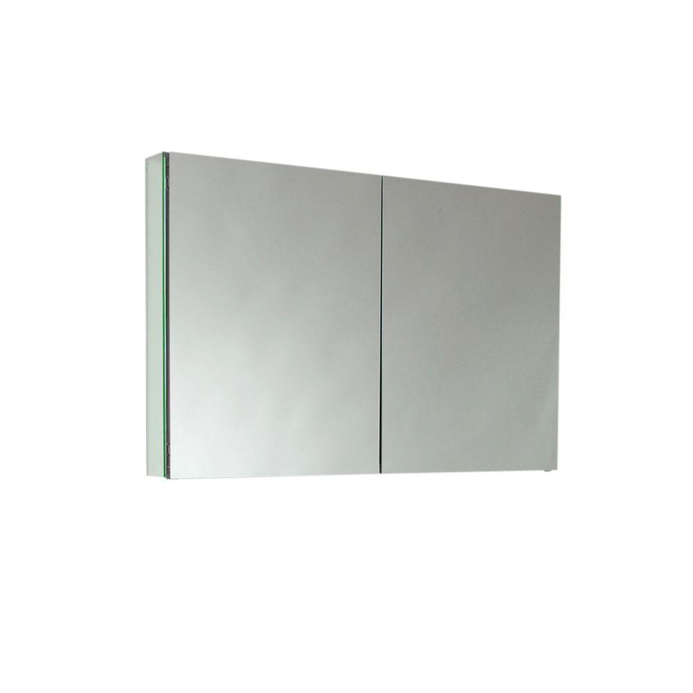 Fresca 40 in. W x 26 in. H x 5 in. D Framed Recessed or Surface-Mount Bathroom Medicine Cabinet