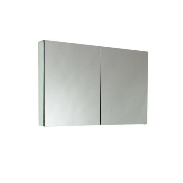 Fresca 40 In W X 26 In H X 5 In D Framed Recessed Or Surface Mount Bathroom Medicine Cabinet Fmc8010 The Home Depot