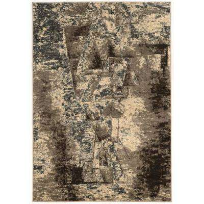 Masters Man Grey and Taupe 2 ft. x 3 ft. Area Rug