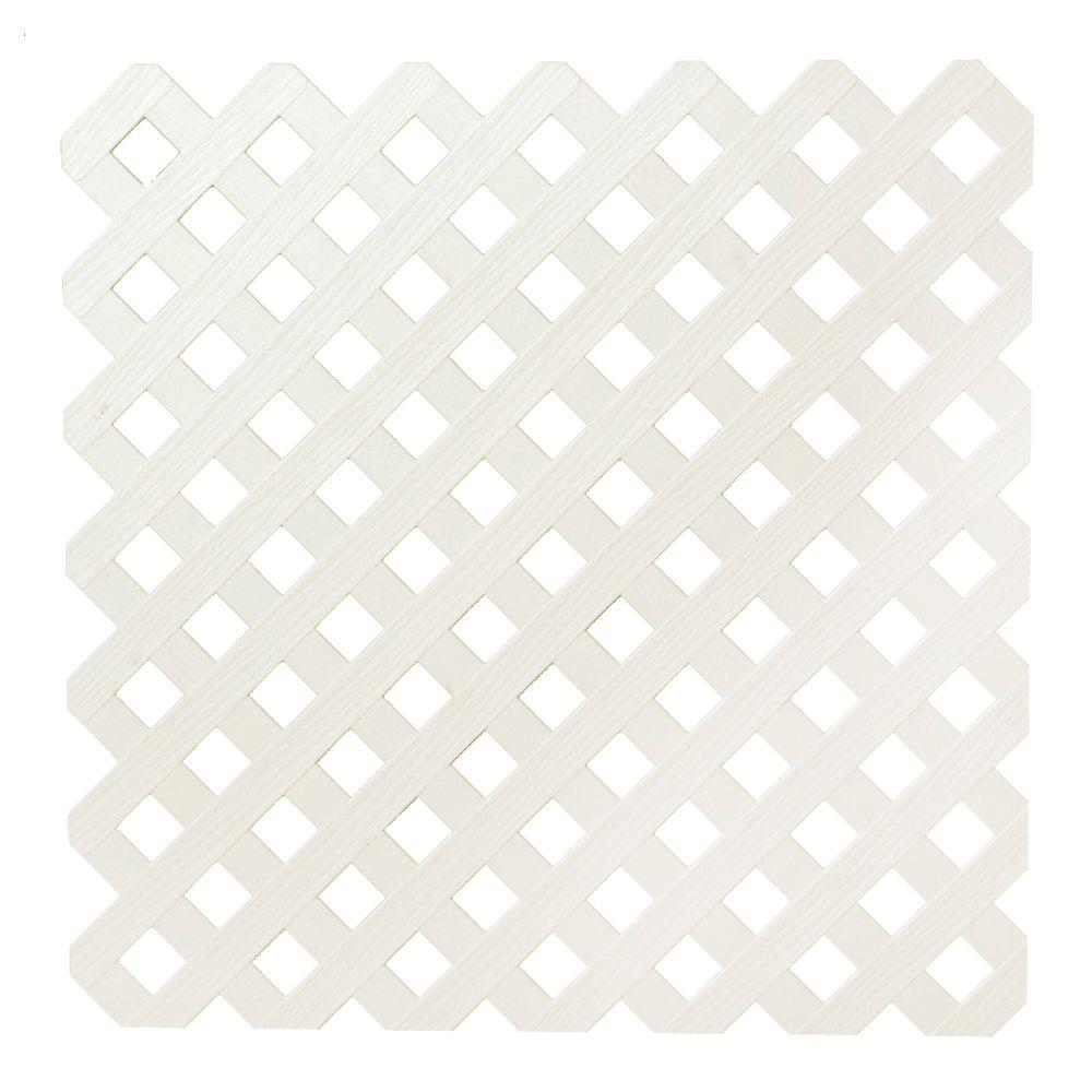 0.2 in. x 48 in. x 8 ft. Almond Privacy Plastic