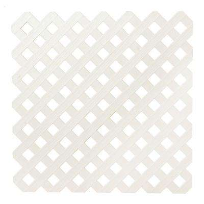 0.2 in. x 48 in. x 8 ft. Almond Privacy Plastic Lattice