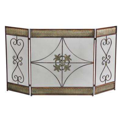 3-Panel Metal Fireplace Screen