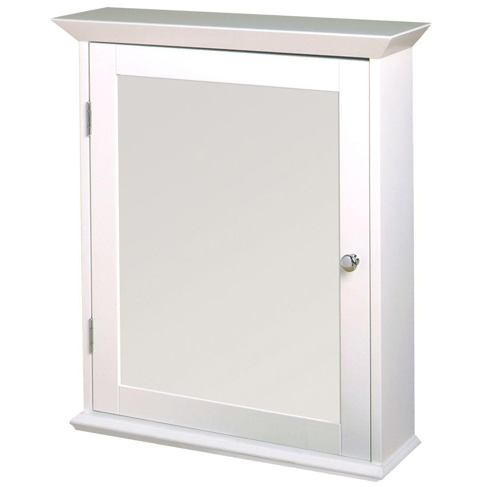 Zenith 22 in. W Framed Surface-Mount Bathroom Medicine Cabinet ...