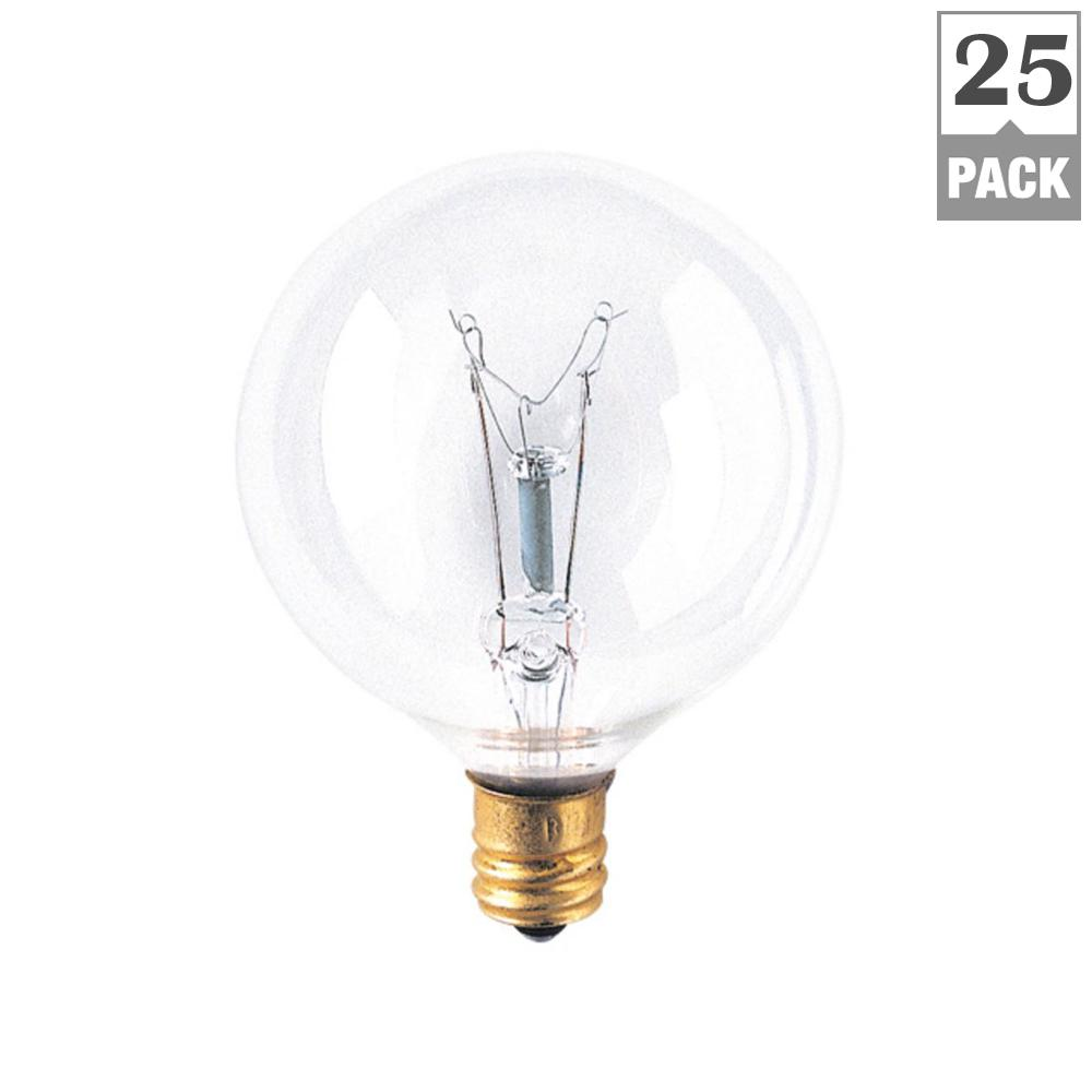 Bulbrite 40w Equivalent Warm White Light G16 Dimmable Led: Bulbrite 15-Watt G16.5 String Bulb Replacement Dimmable