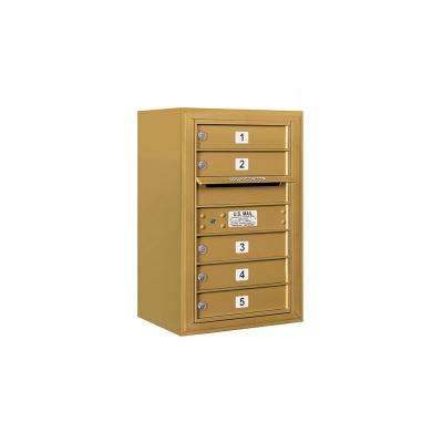 3800 Horizontal Series 5-Compartment Surface Mount Mailbox