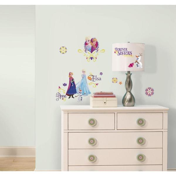 5 in. x 11.5 in. Frozen Spring 27-Piece Peel and Stick Wall Decal