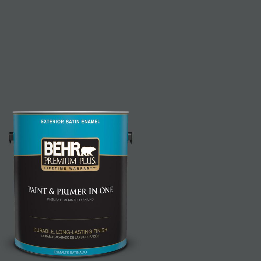 1 gal. #PPU25-01 Carbon Copy Satin Enamel Exterior Paint