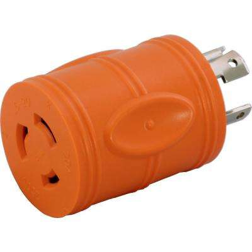 Locking Adapter NEMA L14-30P 30Amp 125/250Volt 4Prong Locking Plug to L6-20R 3Prong 20Amp 250Volt Locking Female