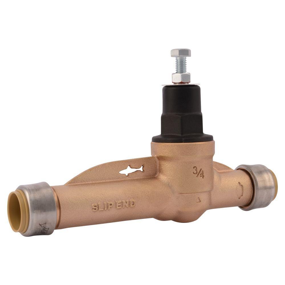 3/4 in. Push-to-Connect Bronze EB-45 Slip Pressure Regulator Valve