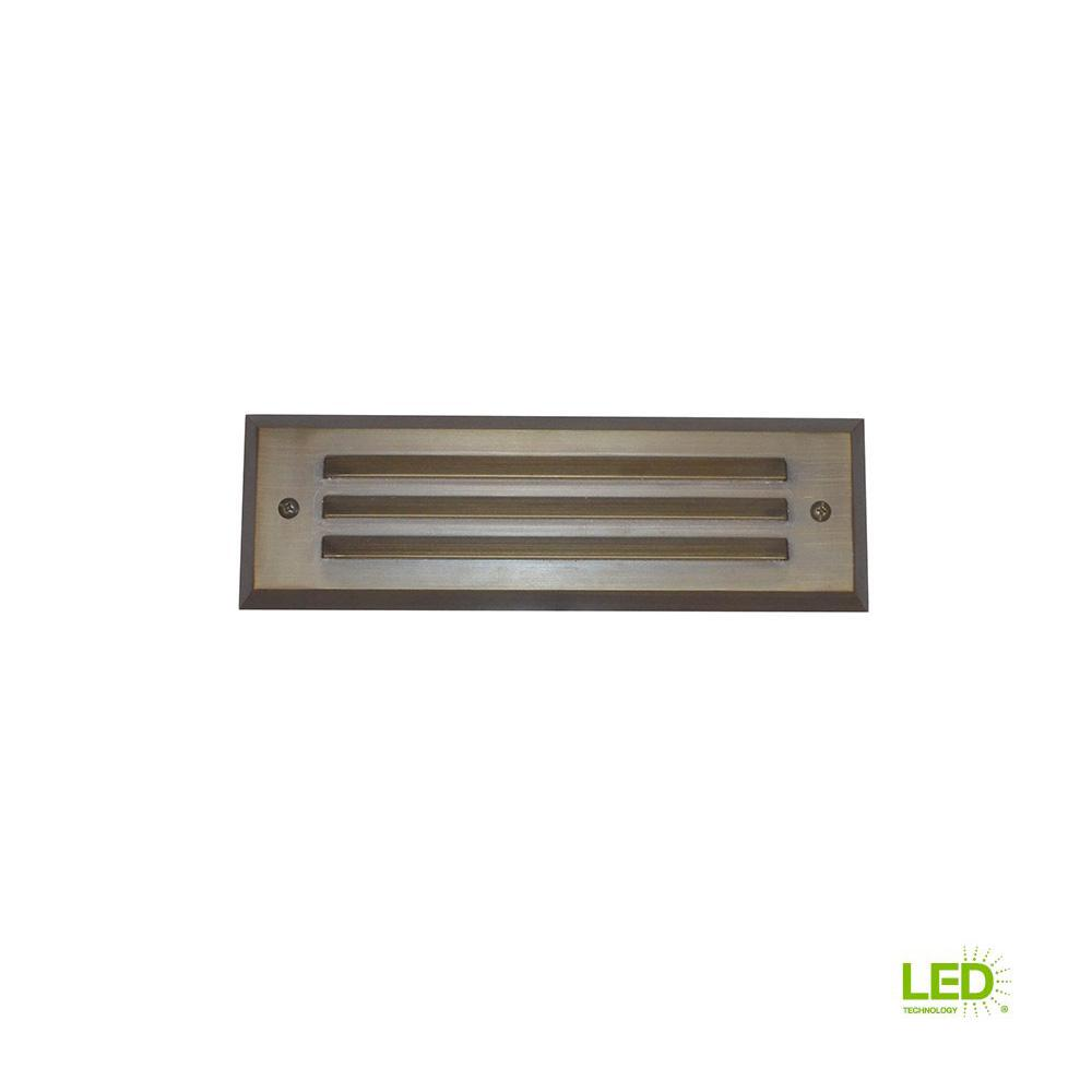 4-Watt Brass Outdoor Integrated LED 2700K White Warm Landscape Deck Light