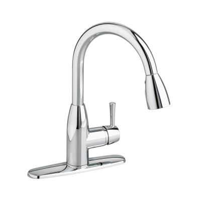 Fairbury Single-Handle Pull-Down Sprayer Kitchen Faucet in Polished Chrome