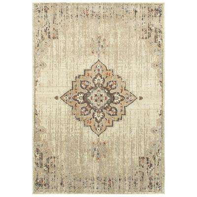 Jameson Ivory 7 ft. 10 in. x 10 ft. 10 in. Area Rug