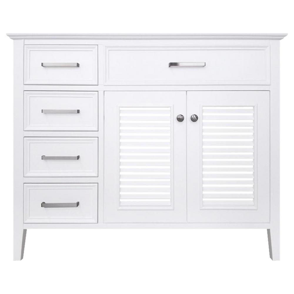 Kensington 43 in. Bath Vanity Cabinet Only in White