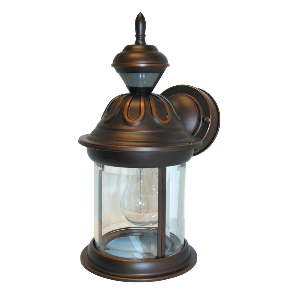 Heath Zenith Outdoor Wall Mounted Lighting Lightings 6 Wiring Motion Sensor Lights Home Design Inspiration 150 Degree Antique Bronze Hanging Carriage Lantern With Clear Beveled Glass