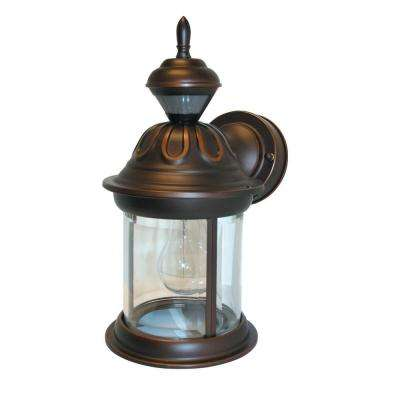 150 Degree Antique Bronze Hanging Carriage Lantern with Clear Beveled Glass