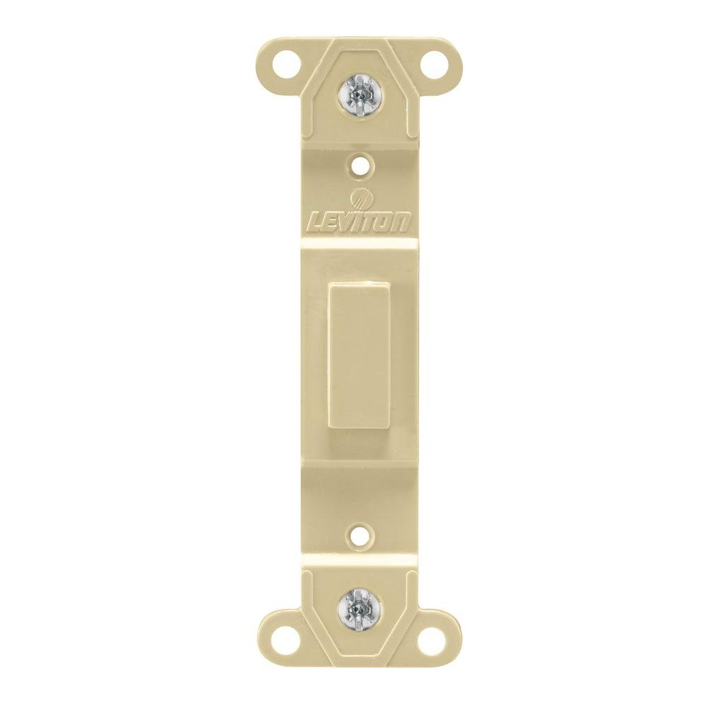 Leviton Blank Insert For Toggle Switch White R02 80700 00w The Home Depot