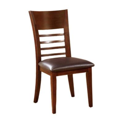 Hillsview I Transitional Brown Cherry Finish Side Chair (Set of 2)