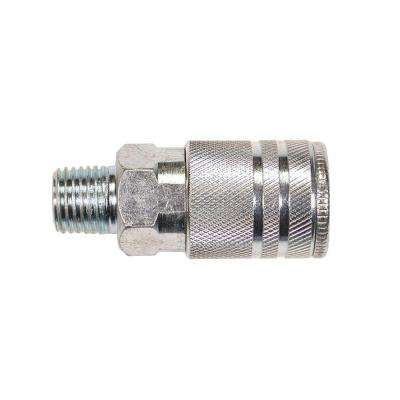 10-Piece 1/4 in. Steel 4-Ball Male Industrial Coupler