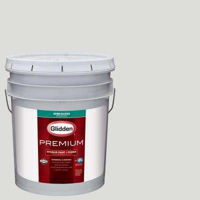 5 gal. #HDGCN55 Silver Screen Semi-Gloss Interior Paint with Primer
