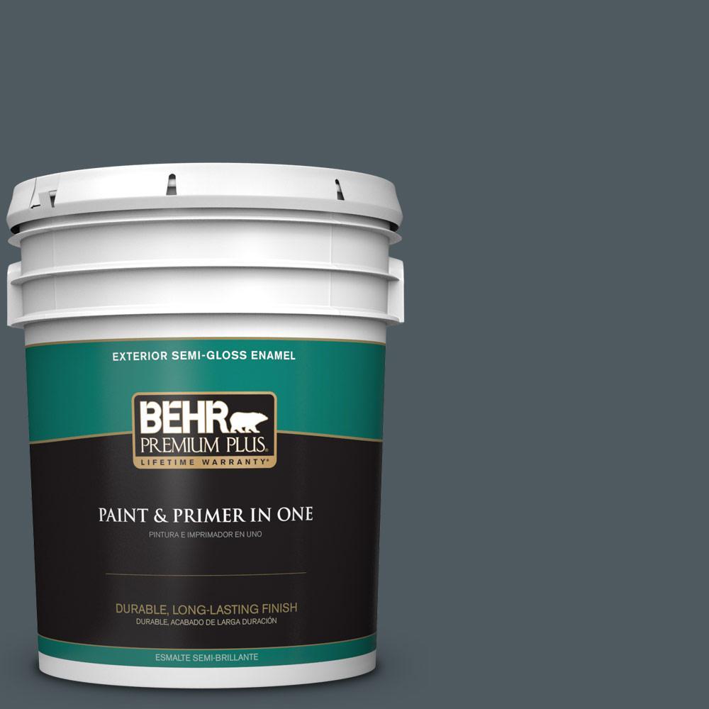 5 gal. #PPU25-21 City Rain Semi-Gloss Enamel Exterior Paint