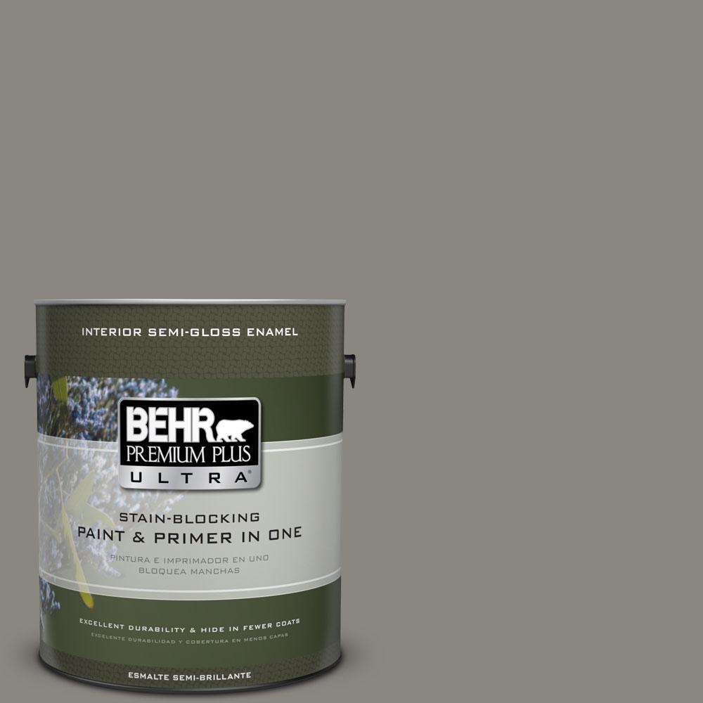 BEHR Premium Plus Ultra Home Decorators Collection 1 gal. #HDC-NT-23 Wet Cement Semi-Gloss Enamel Interior Paint