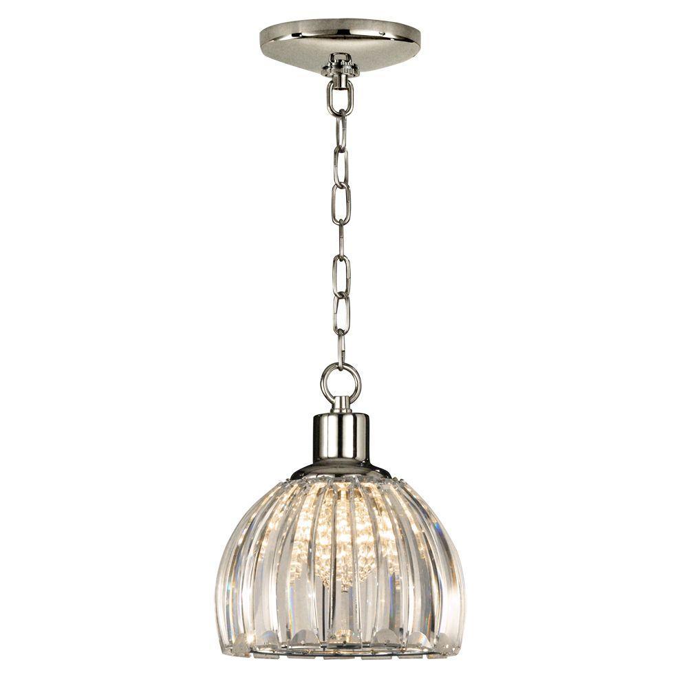 Dale Tiffany 1-Light Polished Chrome San Bruno Pendant-DISCONTINUED