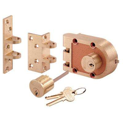 Double Cylinder Bronze Deadbolt
