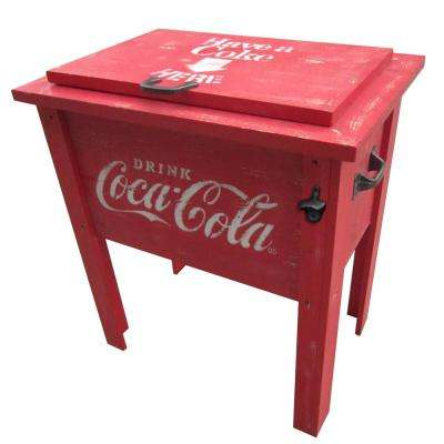 Vintage Red 65 Qt. Coca-Cola Cooler
