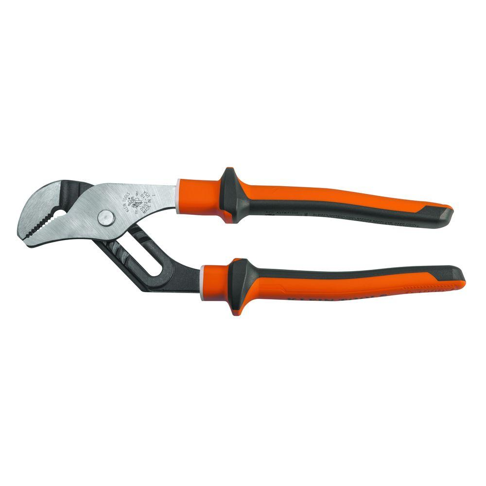 Klein Tools 10 in. Electrician's Insulated Pump Pliers