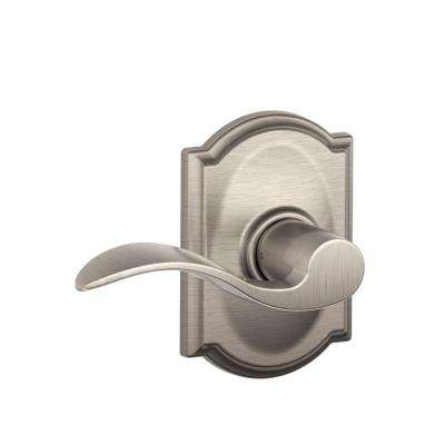 Accent Satin Nickel Passage Door Lever with Camelot Trim