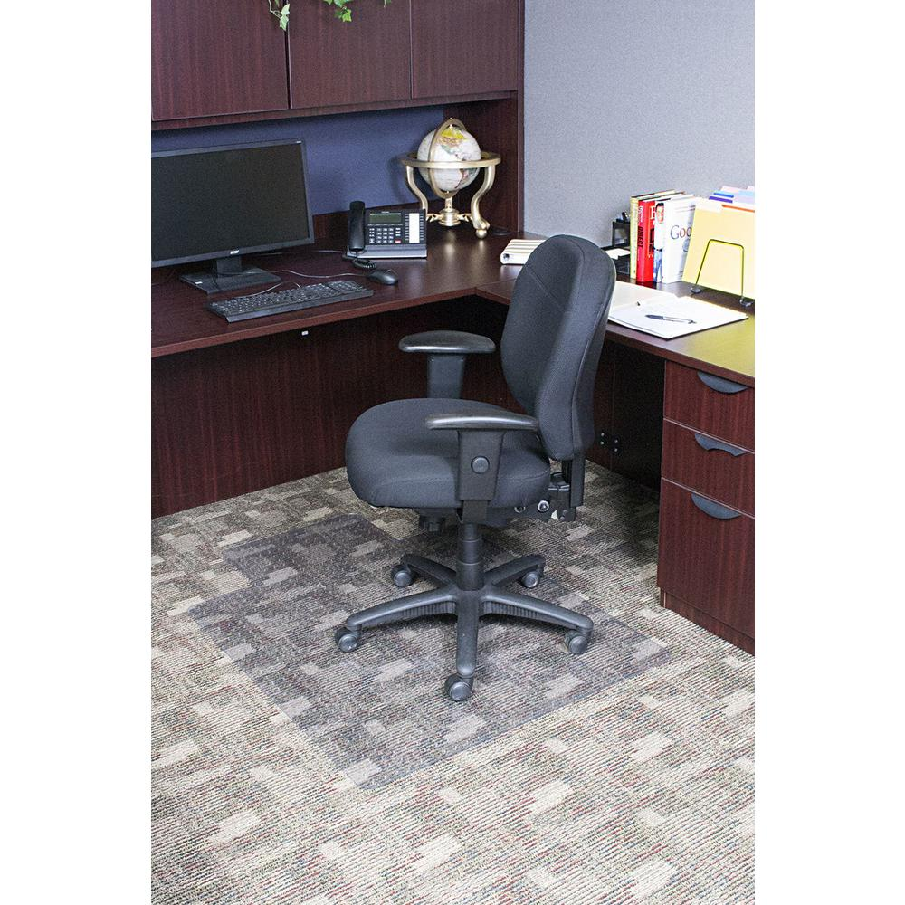Dimex 36 In X 48 In Clear Office Chair Mat With Lip For Low And Medium Pile Carpet Bpa And Phthalate Free