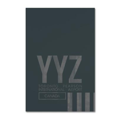 """30 in. x 47 in. """"YYZ Airport Layout"""" by 08 Left Canvas Wall Art"""