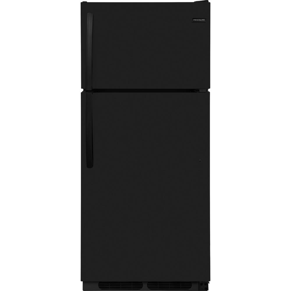 Frigidaire 16.3-Cu Ft Top-Freezer Refrigerator (Black) Energy Star Ffh